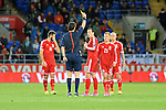 UEFA European Championship at Cardiff City Stadium - Wales v Cyprus : <br /> Gareth Bale of Wales is shown a yellow card.