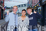 CAstleisland Community College's Tommy Boyle, Rachel O'Connell and Cian Murphy all Scartaglen celebrate their Leaving Cert results in Killarney on Monday