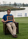 """Oliver Walsh was asked by Ballantine's at the BMW Masters to describe how he stays true to himself; his answer is shown. Ballantine's, who recently announced their new global marketing campaign, """"Stay True, Leave An Impression"""", is a sponsor at the BMW Masters, which takes place from the 24-27 October at Lake Malaren Golf Club in Shanghai. Photo by Andy Jones / The Power of Sport Images for Ballantines."""