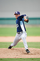 GCL Rays relief pitcher Matt Vogel (45) during the second game of a doubleheader against the GCL Red Sox on August 9, 2016 at JetBlue Park in Fort Myers, Florida.  GCL Rays defeated GCL Red Sox 9-1.  (Mike Janes/Four Seam Images)