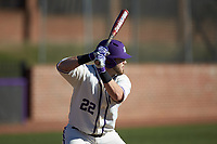 Zach Vandergrift (22) of the High Point Panthers pinch-hits during the game against the NJIT Highlanders at Williard Stadium on February 19, 2017 in High Point, North Carolina. The Panthers defeated the Highlanders 6-5. (Brian Westerholt/Four Seam Images)