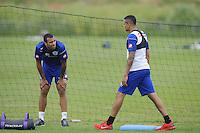 Anton Ferdinand and Jermaine Jenas of QPR in training