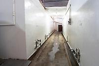 White painted concrete fermentation tanks. Bodega Castillo Viejo Winery, Las Piedras, Canelones, Uruguay, South America