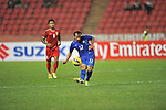 Myanmar vs Thailand during the AFF Suzuki Cup 2012 Group A match on November 27, 2012 at the Rajamangala Stadium in Bangkok, Thailand. Photo by World Sport Group