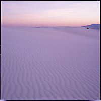 After sunset, White Sands National Monument.  My mother and I were being herded back to our cars by an overeager park ranger as the park was closing.  We didn't care - the colors and the light were too incredible! <br /> <br /> Hassleblad 500 C/M, 50mm lens, Fuji Velvia.