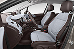 Front seat view 2014 Opel MERIVA Cosmo 5 Door Mini MPV 2WD Stock Photo