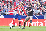 Atletico de Madrid Antoine Griezmann and Athletic Club Mikel Vesga during La Liga match between Atletico de Madrid and Athletic Club and Wanda Metropolitano in Madrid , Spain. February 18, 2018. (ALTERPHOTOS/Borja B.Hojas)