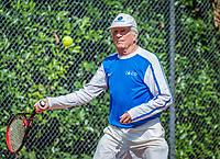 Hilversum, The Netherlands,  August 18, 2020,  Tulip Tennis Center, NKS, National Senior Championships, Men's single 85+ , Piet Borst (NED) <br /> Photo: www.tennisimages.com/Henk Koster