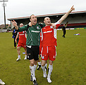 24/05/2009  Copyright  Pic : James Stewart.sct_jspa_10_airdrie_v-Ayr.AYR UTD PLAYERS STEPHEN GRINDLAY AND SCOTT WALKER  CELEBRATE AT THE END OF THE GAME.James Stewart Photography 19 Carronlea Drive, Falkirk. FK2 8DN      Vat Reg No. 607 6932 25.Telephone      : +44 (0)1324 570291 .Mobile              : +44 (0)7721 416997.E-mail  :  jim@jspa.co.uk.If you require further information then contact Jim Stewart on any of the numbers above.........