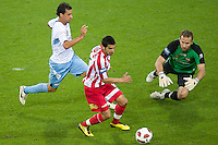 MELBOURNE, AUSTRALIA - NOVEMBER 27: Adrian Zahra of the Heart controls the ball during the round 16 A-League match between the Melbourne Heart and Sydney FC at AAMI Park on November 27, 2010 in Melbourne, Australia. (Photo by Sydney Low / Asterisk Images)