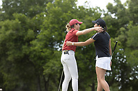 STANFORD, CA - APRIL 24: Malia Nam, Angelina Ye at Stanford Golf Course on April 24, 2021 in Stanford, California.