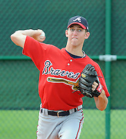 14 March 2009: RHP Zeke Spruill of the Atlanta Braves at Spring Training camp at Disney's Wide World of Sports in Lake Buena Vista, Fla. Photo by:  Tom Priddy/Four Seam Images