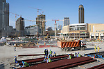 United Arab Emirates, Dubai: Construction of new apartment and office blocks by the Dubai Mall