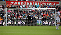 Pictured: Michel Vorm of Swansea City in action. Saturday 17 September 2011<br /> Re: Premiership football Swansea City FC v West Bromwich Albion at the Liberty Stadium, south Wales.
