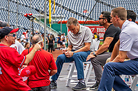 22 September 2018: Washington Nationals and MASN Play-By-Play Broadcaster Bob Carpenter signs autographs prior to a game against the New York Mets at Nationals Park in Washington, DC. The Nationals shut out the Mets 6-0 in the 3rd game of their 4-game series. Mandatory Credit: Ed Wolfstein Photo *** RAW (NEF) Image File Available ***