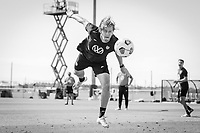 BRADENTON, FL - JANUARY 21: Walker Zimmerman heads the ball during a training session at IMG Academy on January 21, 2021 in Bradenton, Florida.