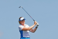 6th September 2021: Toledo, Ohio, USA;  Matilda Castren of Team Europe hits her second shot on the first hole during her singles match in the Solheim Cup on September 6, 2021 at Inverness Club in Toledo, Ohio.