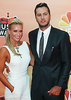 LOS ANGELES, CA, USA - MAY 01: Caroline Bryan, Luke Bryan at the iHeartRadio Music Awards 2014 held at The Shrine Auditorium on May 1, 2014 in Los Angeles, California, United States. (Photo by Celebrity Monitor)