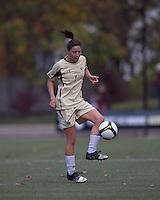Boston College forward Victoria DiMartino (1) traps the ball. Florida State University defeated Boston College, 1-0, at Newton Soccer Field, Newton, MA on October 31, 2010.