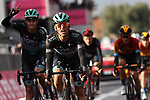 Rafal Majka (POL) crosses the finish line after team mate Peter Sagan (SVK) Bora-Hansgrohe wins Stage 10 of the 103rd edition of the Giro d'Italia 2020, running 177km from Lanciano to Tortoreto, Italy. 13th October 2020.  <br /> Picture: Luca Bettini/BettiniPhoto | Cyclefile<br /> <br /> All photos usage must carry mandatory copyright credit (© Cyclefile | Luca Bettini/BettiniPhoto)