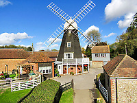 What a sail -  Windmill transformed into a cosy home is on the market for £945,000.