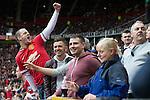 © Joel Goodman - 07973 332324 . 17/05/2015 .  Mcr Utd go a goal up . 1-0 . Manchester Utd vs Arsenal at Old Trafford Football Stadium , Manchester . Photo credit : Joel Goodman