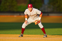 Florida State Seminoles first baseman Jayce Boyd #16 on defense against the Wake Forest Demon Deacons at Wake Forest Baseball Park on March 24, 2012 in Winston-Salem, North Carolina.  The Seminoles defeated the Demon Deacons 3-2.  (Brian Westerholt/Four Seam Images)