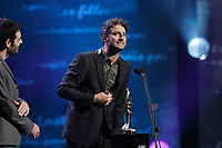 October 27, 2013 File Photo -<br /> Louis-Jean Cormier (R)<br />  at<br /> ADISQ l'autre Gala at Place-des-Arts.