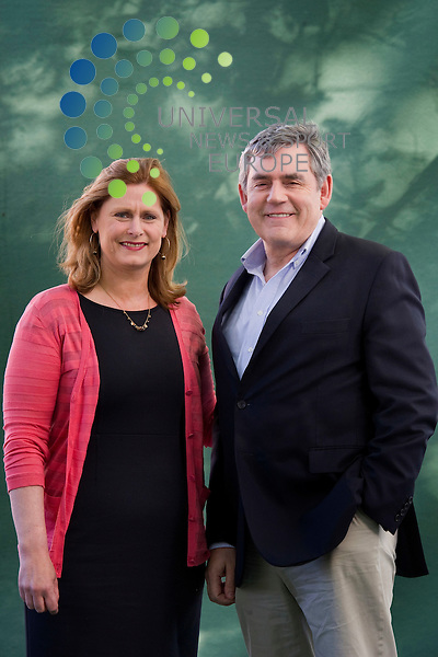 Author Sarah Brown with husband Gordon at the Edinburgh Book Festival, Edinburgh, Scotland, 14th August, 2011. - Former Prime Minister Gordon Brown is preparing to announce that he will stand down from parliament in 2015.<br /> He is expected to confirm his intentions in a speech to the local Labour Party in his Kirkcaldy and Cowdenbeath constituency this evening.<br /> Mr Brown will have served 32 years at Westminster by the time of the general election.<br /> Picture: Universal News And Sport (Scotland) 01 December 2014