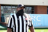 CHAPEL HILL, NC - NOVEMBER 14: Umpire Terrence Ramsey before a game between Wake Forest and North Carolina at Kenan Memorial Stadium on November 14, 2020 in Chapel Hill, North Carolina.