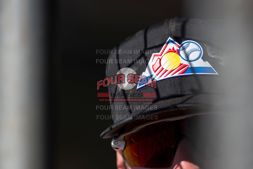 A Colorado Rockies player stands in the dugout entrance during a Minor League Spring Training game against the Milwaukee Brewers at Salt River Fields at Talking Stick on March 17, 2018 in Scottsdale, Arizona. (Zachary Lucy/Four Seam Images)