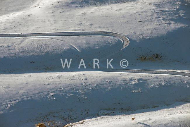 Winter mountain road, near Westcliffe, Colorado. Feb 2013. 82511