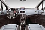 Straight Dashboard View 2014 Opel MERIVA Cosmo 5 Door Mini MPV 2WD Stock Photo