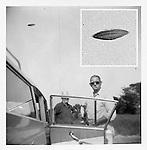 UFO in vintage snapshot