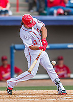 13 March 2016: Washington Nationals infielder Anthony Rendon in action during a pre-season Spring Training game against the St. Louis Cardinals at Space Coast Stadium in Viera, Florida. The teams played to a 4-4 draw in Grapefruit League play. Mandatory Credit: Ed Wolfstein Photo *** RAW (NEF) Image File Available ***
