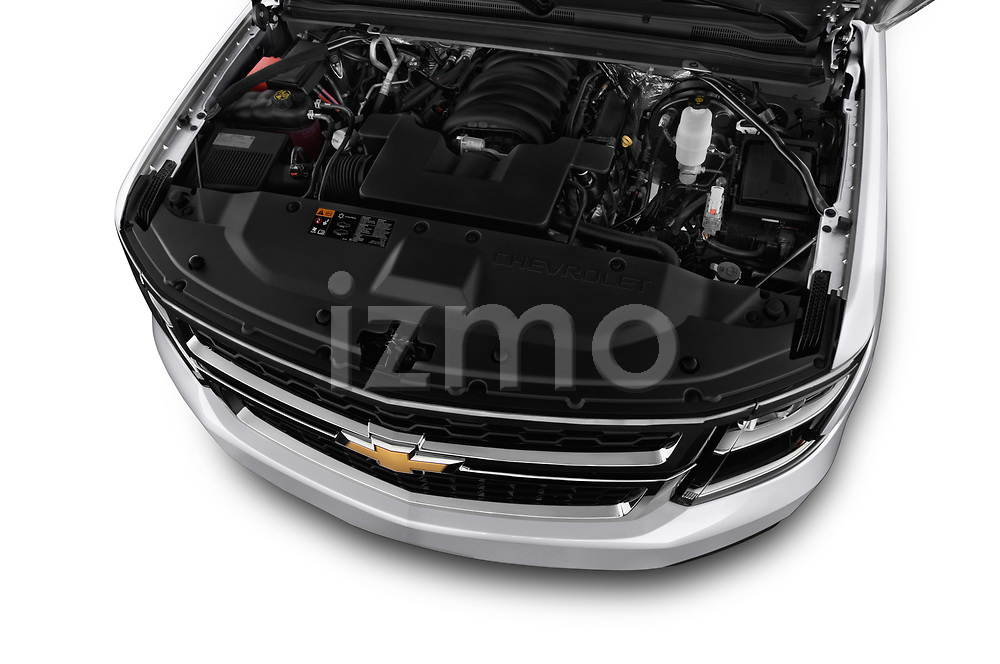 High angle engine detail of a 2017 Chevrolet Tahoe 2WD LT 5 Door SUV