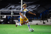 LAKE BUENA VISTA, FL - JULY 27: Cade Cowell #44 of the San Jose Earthquakes dribbles the ball during a game between San Jose Earthquakes and Real Salt Lake at ESPN Wide World of Sports on July 27, 2020 in Lake Buena Vista, Florida.