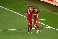 v. l. Ivan Perisic (FC Bayern Muenchen), Robert Lewandowski (FC Bayern Muenchen) celebrate the goal, Der Torjubel zum 1:4<br /> Fussball, Herren, Saison 2019/2020, 77. Finale um den DFB-Pokal in Berlin, Bayer 04 Leverkusen - FC Bayern München, 04.07. 2020, Foto: Matthias Koch/POOL/Marc Schueler/Sportpics.de