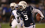 Nevada's Nigel Westbrooks runs against Air Force during the second half of an NCAA football game in Reno, Nev., on Saturday, Sept. 28, 2013.  <br /> Photo by Cathleen Allison