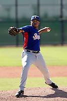 Edwin Escobar - Texas Rangers 2009 Instructional League.Photo by:  Bill Mitchell/Four Seam Images..