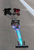 Oct. 16, 2011; Chandler, AZ, USA; NHRA top fuel dragster driver Mike Strasburg during the Arizona Nationals at Firebird International Raceway. Mandatory Credit: Mark J. Rebilas-