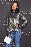 Maya Jama<br /> arriving for the Fenty Beauty by Rihanna launch party at Harvey Nichols, London<br /> <br /> <br /> ©Ash Knotek  D3310  19/09/2017