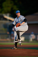 Hudson Valley Renegades starting pitcher Nicholas Padilla (17) delivers a pitch during a game against the Auburn Doubledays on September 5, 2018 at Falcon Park in Auburn, New York.  Hudson Valley defeated Auburn 11-5.  (Mike Janes/Four Seam Images)
