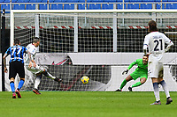 Vladimir Golemic of FC Crotone scores a goal during the Serie A football match between FC Internazionale and FC Crotone at stadio San Siro in Milano (Italy), January 3rd, 2021. Photo Daniele Buffa / Image Sport / Insidefoto