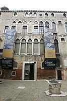 La facciata del Palazzo Fortuny, sede del museo omonimo, a Venezia.<br /> The facade of the Palazzo Fortuny art museum in Venice.<br /> UPDATE IMAGES PRESS/Riccardo De Luca