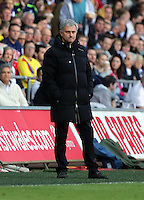 Sunday, 13 April 2014<br /> Pictured: Chelsea manager Jose Mourinho.<br /> Re: Barclay's Premier League, Swansea City FC v Chelsea at the Liberty Stadium, south Wales,