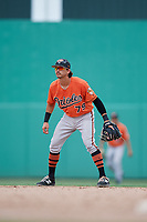 Baltimore Orioles Andrew Fregia (79) during a Florida Instructional League game against the Boston Red Sox on September 21, 2018 at JetBlue Park in Fort Myers, Florida.  (Mike Janes/Four Seam Images)