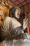 Japan, South Honshu, Kansai, Nara: Daibutsu (Great Buddha) inside the Daibutsu-den Hall, Todai-ji (Buddhist Temple) | Japan, Sued-Honshu, Kansai, Nara: Daibutsu (Grosser Buddha) in der Daibutsu-den Halle, im Todai-ji Tempel