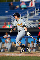 West Virginia Black Bears designated hitter Tyler Leffler (30) at bat during a game against the Batavia Muckdogs on August 21, 2016 at Dwyer Stadium in Batavia, New York.  West Virginia defeated Batavia 6-5.  (Mike Janes/Four Seam Images)