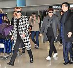 JYJ, Junsu, Yoo-chun, December 12, 2014, Osaka, Japan : Korean singer Junsu Kim (L) and Yoochun Park of JYJ arrive Kansai International Airport in Osaka, Japan, on December 12, 2014.